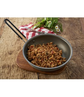 Jautienos befstrogenas su ryžiais, 160 g.