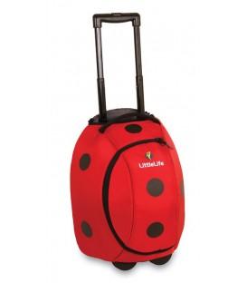 LittleLife vaikiškas lagaminas su ratukais - Boružėlė