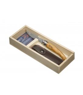 Opinel peilis Nr.10 - alyvmedžio rankena, su dėklu