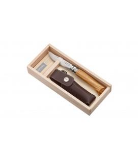 Opinel peilis Nr.8 alyvmedžio rankena su dėklu