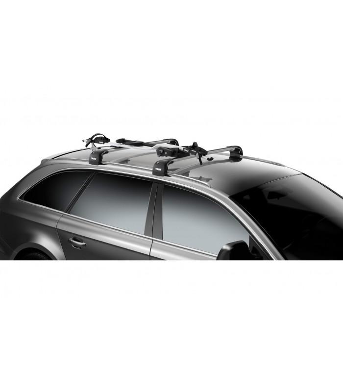 dvira i laikiklis thule proride 591 laikikliai ant stogo. Black Bedroom Furniture Sets. Home Design Ideas